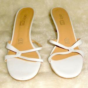 Cathy Jean Brazil by Dumond White Heels Slip On